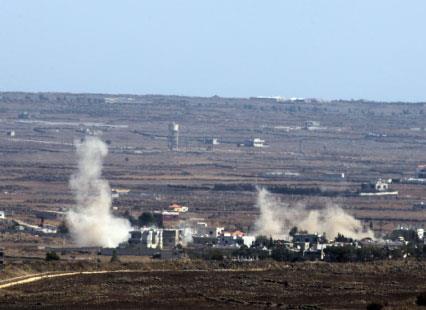 «المعارضة السورية» تشكر إسرائيل  على إسقاط طائرة في الجولان