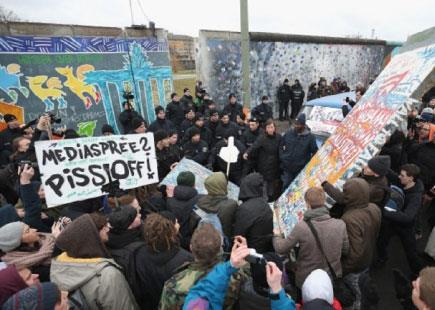 الشركات العقاريّة تهدّد بقايا جدار برلين