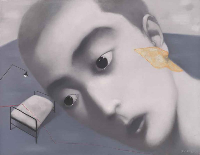 من سلسلة «نسيان وذاكرة» للصيني شانغ زياوغانغ (زيت على كانفاس ــ 2003)