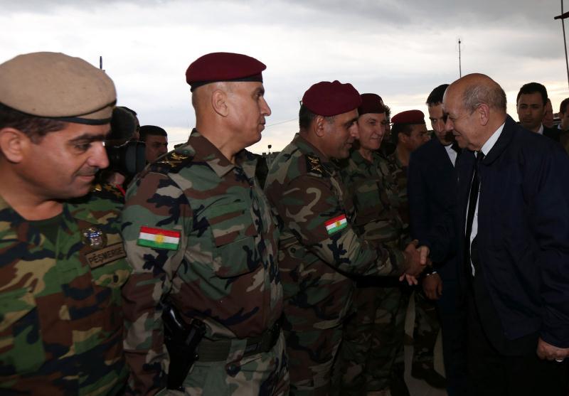 زار وزير الدفاع الفرنسي أمس إقليم كردستان حيث التقى عدة مسؤولين