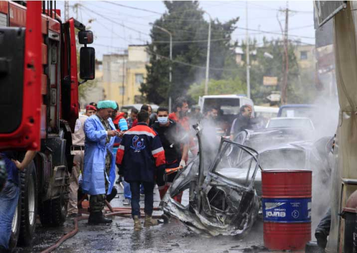 مسرح جريمة اغتيال زيدان أمس (الأخبار)