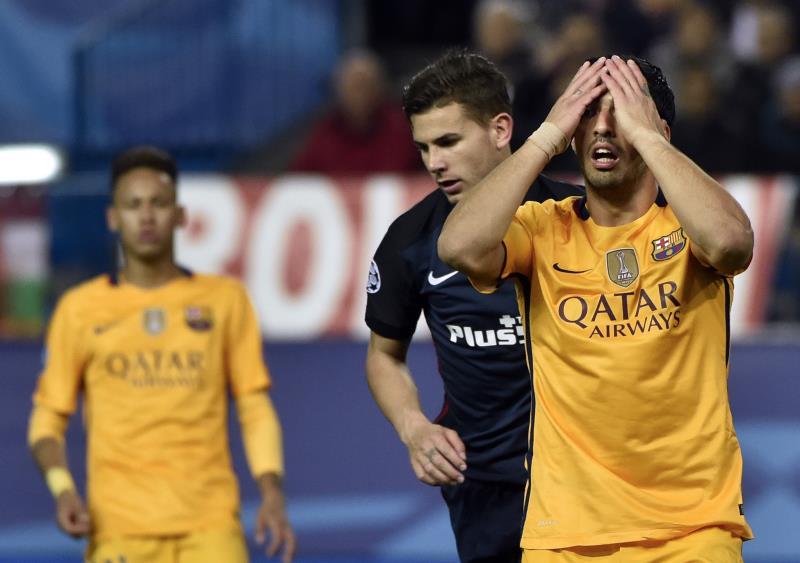 """بعد دوري الأبطال بات برشلونة مهدداً بفقدان """"الليغا"""" (جيرارد جوليان ــ أ ف ب)"""
