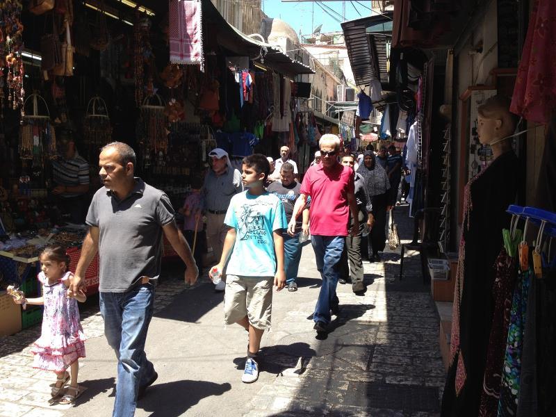 شوارع القدس العتيقة (تصوير شعيب ابو جهل)