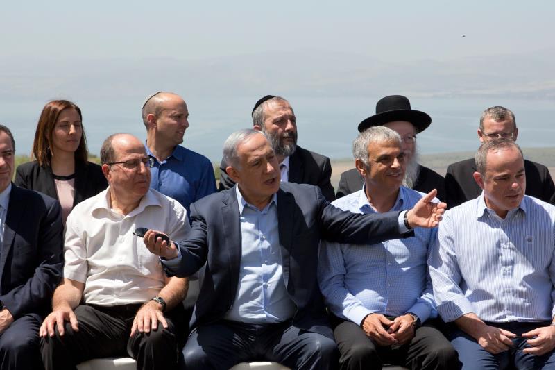 نتنياهو: أنا أنقل رسالة واضحة، ستبقى هضبة الجولان في أيدي إسرائيل إلى الأبد (أ ف ب)