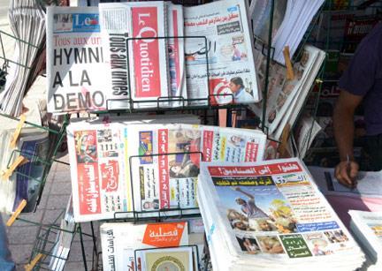 تونس: الإعلام يحتفي بالولادة الجديدة