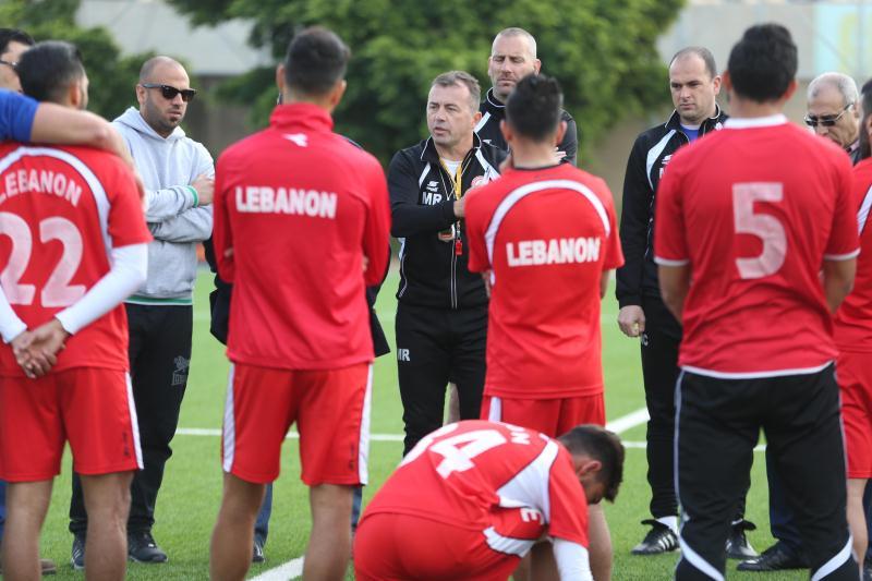 رادولوفيتش خلال تدريبٍ لمنتخب لبنان