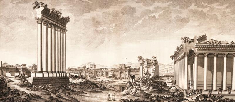 «آثار بعلبك في سوريا الجوفاء» (لندن، 1757)