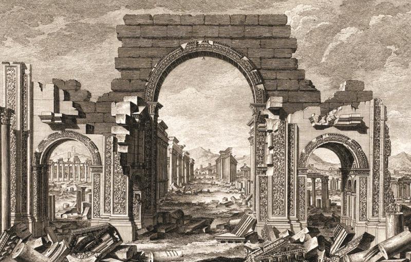 «آثار تدمر في الصحراء» (لندن، 1753)