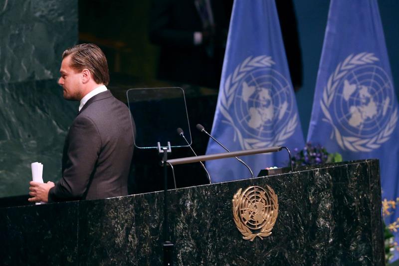 حض الممثل الأميركي والناشط البيئي ليوناردو ديكابريو قادة العالم على التحرك بسرعة
