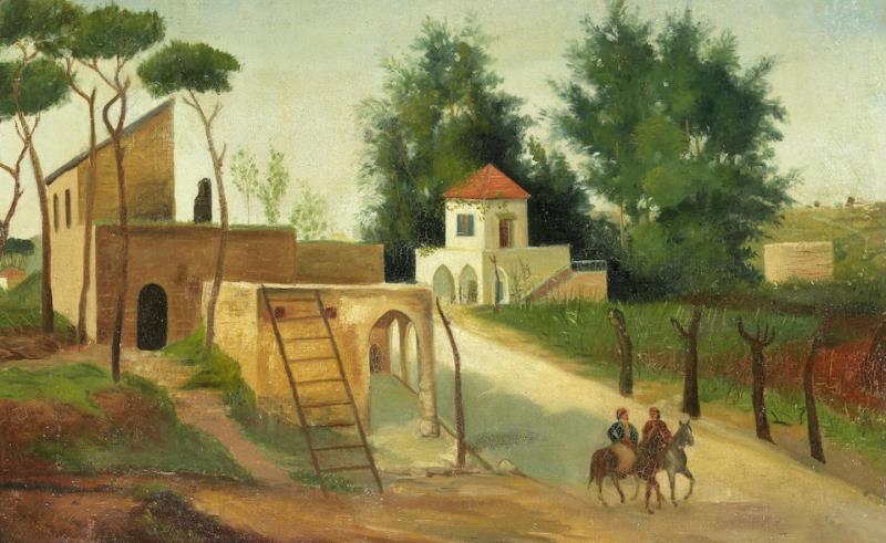 «منظر من الأشرفية» لداوود القرم (زيت على كانفاس ــ 36 × 55 سنتم ــ 1881)