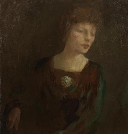 «بورتريه لكاري أود» لخليل صليبي (زيت على كنفاس ــ 47 × 40 سنتم ــ 1916)