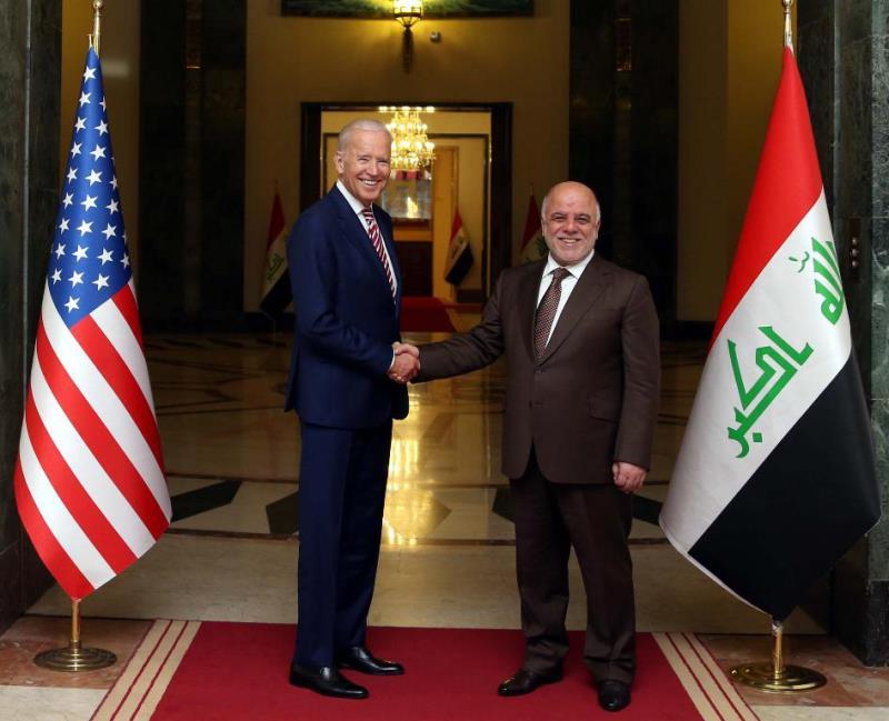 يهدف بايدن إلى «مواصلة زخم الحرب الجارية ضد داعش» (أ ف ب)