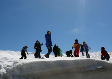 التزلّج في ظلال أرزة العلم