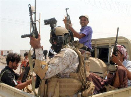 خريطة الانتشار العسكري في محافظة عدن