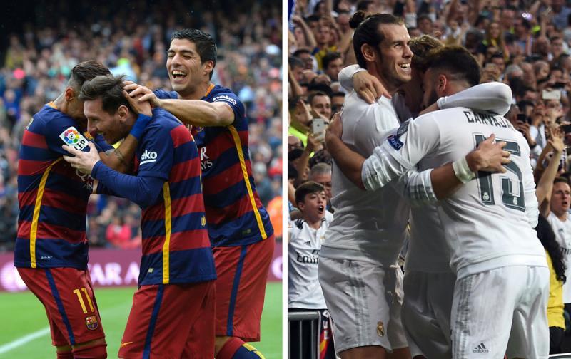 هل تكون الفرحة لبرشلونة أم لريال مدريد؟ (أ ف ب)