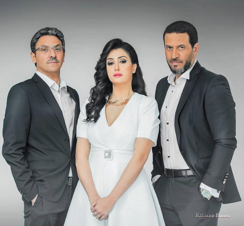 أبطال مسلسل «الخانكة»: ماجد المصري، و غادة عبد الرازق، وفتحي عبد الوهاب