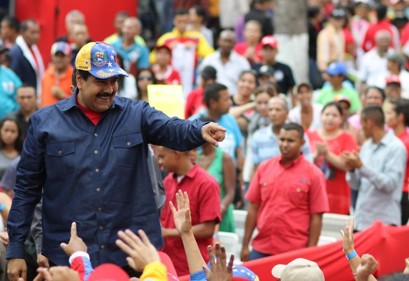مادورو: حالة الاستثناء تهدف إلى تعطيل العدوان الخارجي وإفشاله (أ ف ب)