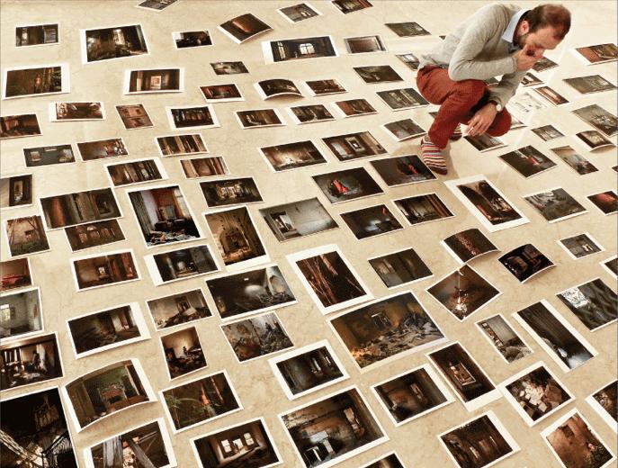 الفنان اللبناني بين عدد من الصور التي التقطها