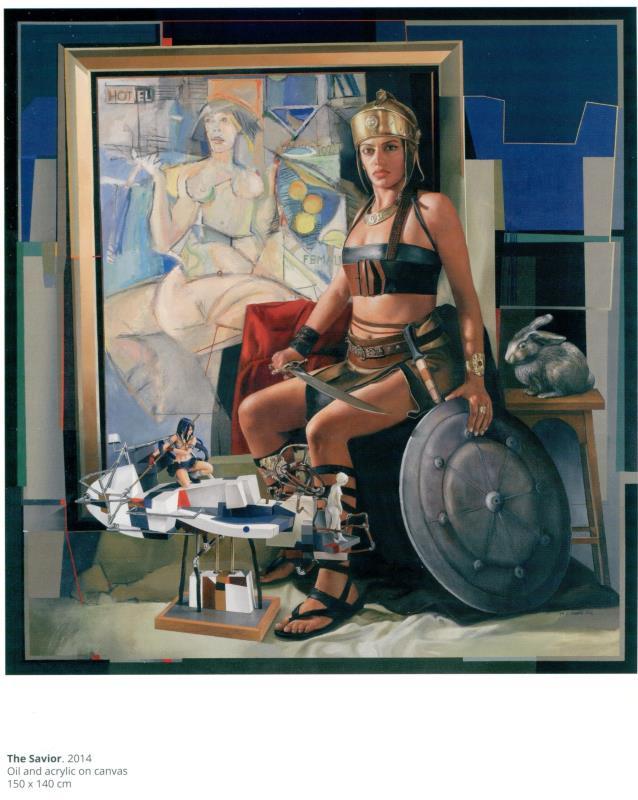 «المخلّصة» (زيت وأكريليك على كانفاس ـــ 150 × 140 سنتم ــ 2014)