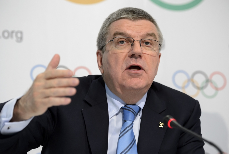 رئيس اللجنة الأولمبية الدولية توماس باخ (فابريس كوفريني ــ أ ف ب)
