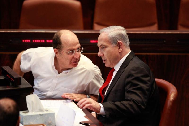 أعرب نتنياهو عن «أسفه» لقرار يعلون (من الويب)