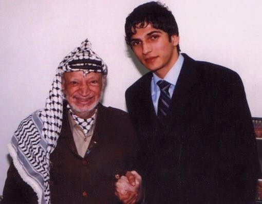 مع الرئيس الراحل ياسر عرفات