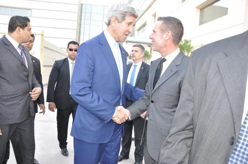 خلال زيارة وزير الخارجية الأميركي جون كيري إلى القاهرة (ضمن تأمينات الثريا)