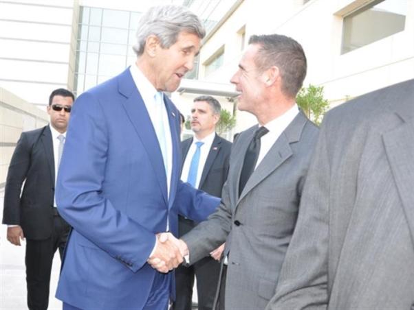 خلال زيارة وزير الخارجية الأميركي جون كيري إلى القاهرة