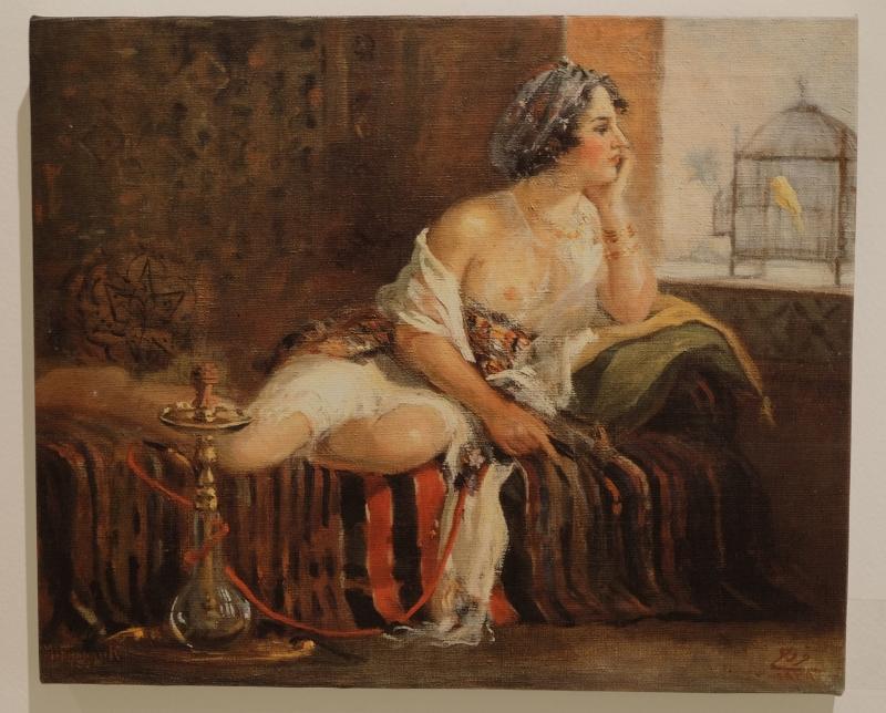 «السجينان» لمصطفى فروخ (زيت على كانفاس ـــ 38 × 47 سنتم ـــ 1929 ــ بإذن من هاني فروخ)