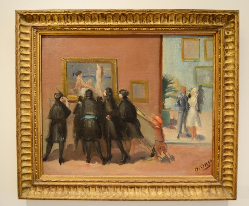 «في المعرض» لعمر الأنسي  (زيت على كانفاس ـــ 45 × 37.5 سنتم ــ 1932 ــ من مجموعة سمير أبي اللمع)