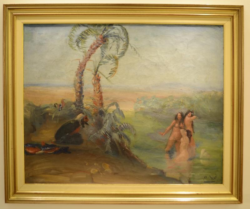 «محممات دارة جلجل ــ امرؤ القيس» لعمر الأنسي (زيتب على كانفاس ـــ 80 × 64.5 سنتم ــ 1932 ــ مجموعة رائد بساتنة)