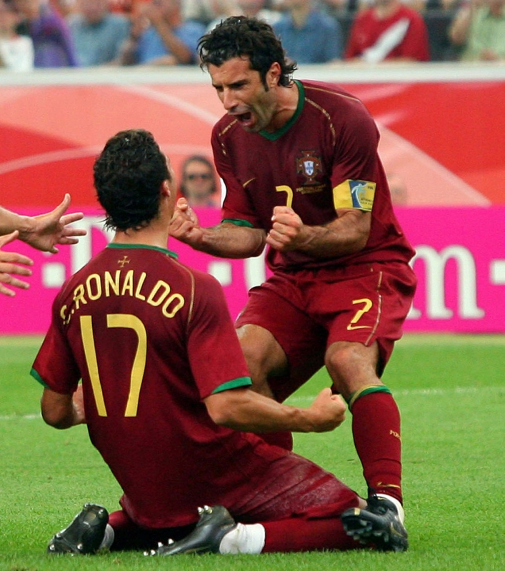 سبق ان لعب فيغو ورونالدو سويّاً في المنتخب البرتغالي (أرشيف)