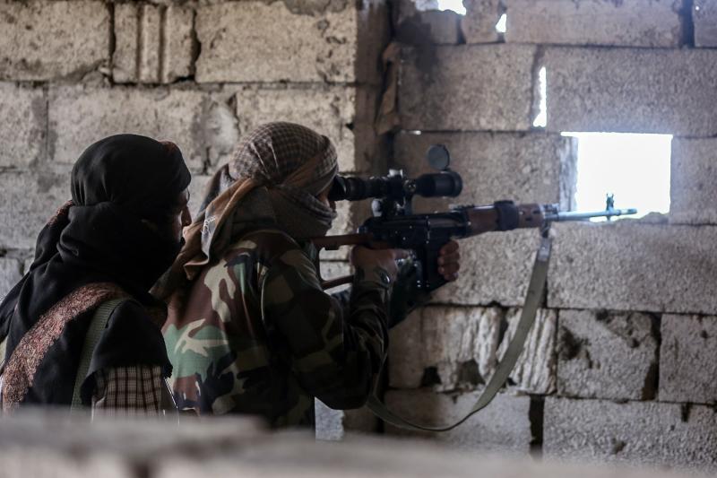 وصلت تعزيزات كبيرة للمسلحين إلى جبهة بيحان قبل انفجار الوضع (أرشيف)
