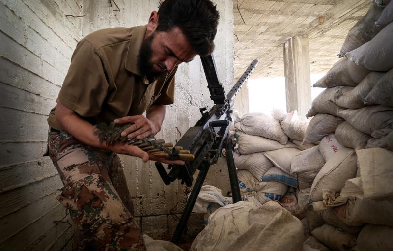 سيطر «جيش الإسلام» على بلدتَي مسرابا ومديرا في الغوطة (الأناضول)