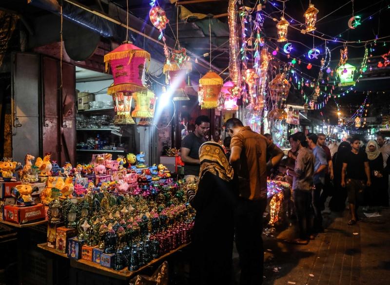 فوانيس رمضان في غزة تصوير الزميل نضال الوحيدي