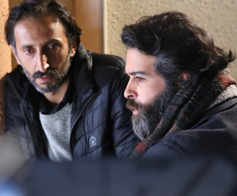 أحمد الأحمد ومحمود نصر  في مشهد من المسلسل