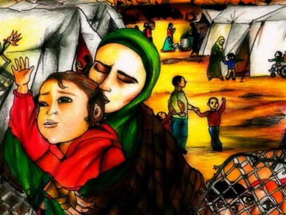 وجوه 4   أم محمود ترمي حجراً في بركة المخيم!