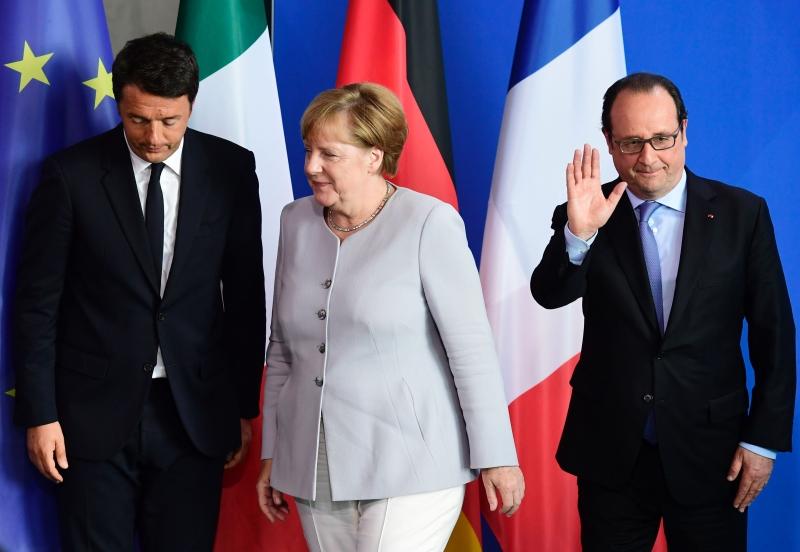 ميركل: نريد زخماً جديداً للمشروع الأوروبي (أ ف ب)
