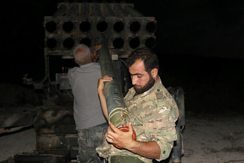 أطلق المسلحون «الجزء الثاني» من معركتهم في ريف اللاذقية (الأناضول)