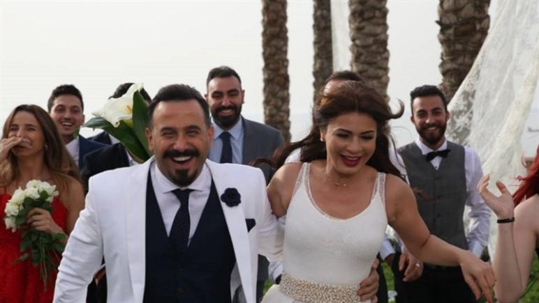 نجلاء بدر وقصي خولي في مشهد من المسلسل