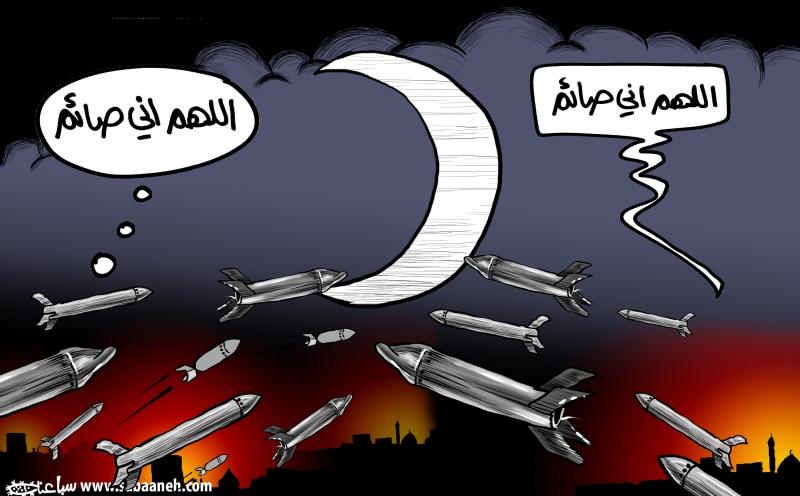 رسم الفنان الفلسطيني محمد سباعنة