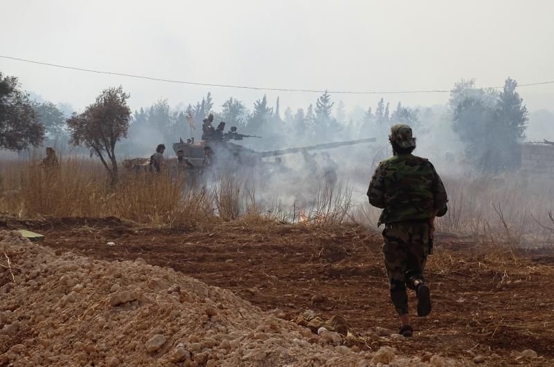 صدّّ الجيش هجوماً لـ«داعش»، على محور طريق إثريا - الشيخ هلال (الأناضول)