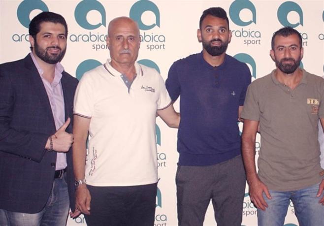 عدنان ياسين (الى اليسار) مع رستم وعنتر وحجيج