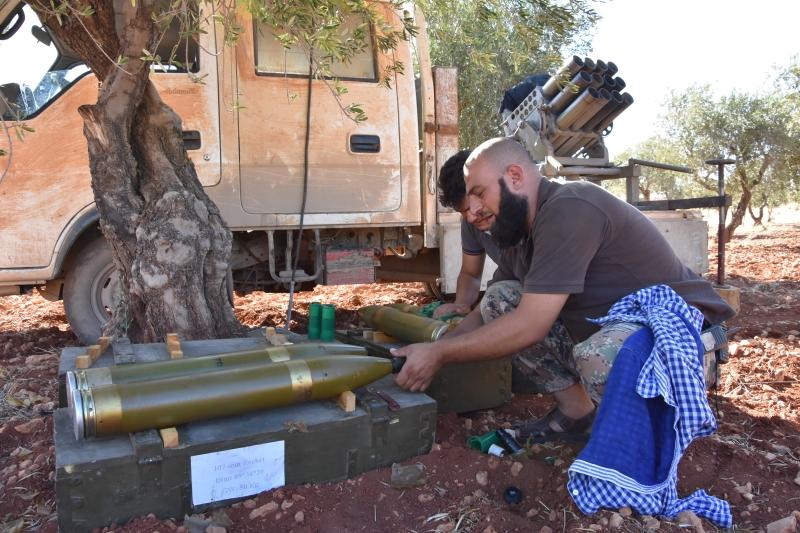 تخوض «فتح حلب» معارك «ردع» على جبهة الخالدية (الأناضول)