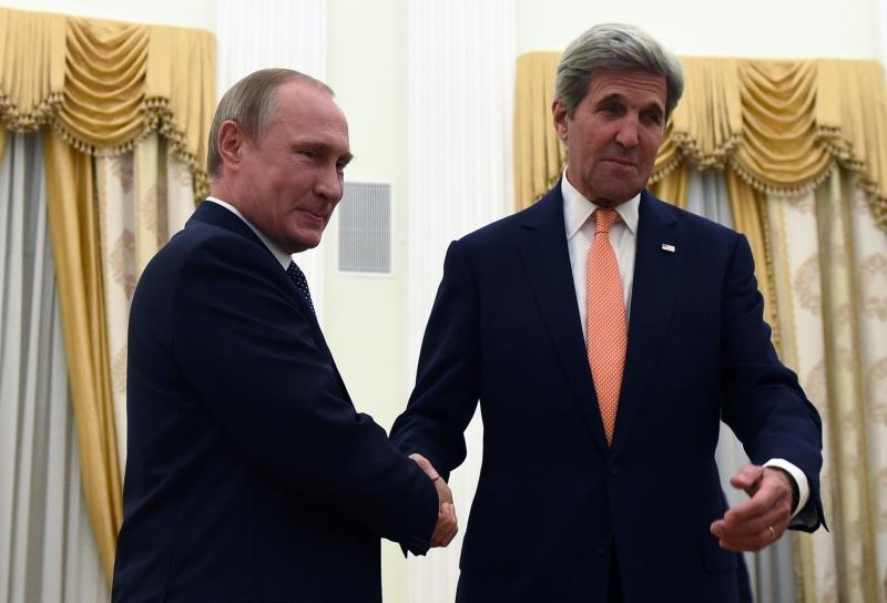 سُرّبت وثيقة أميركية، سيطرحها كيري في موسكو، تقترح التعاون العسكري في سوريا (أ ف ب)