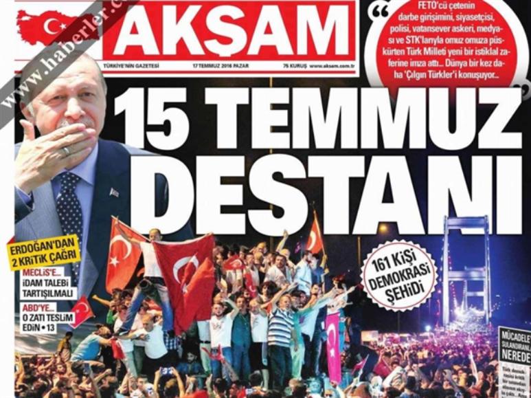 الصحف التركية تستنسخ خطاب إردوغان: إنّه غولن الإرهابي