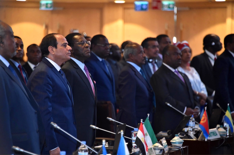 أعاد السيسي مطالبته بتفعيل منطقة التجارة الحرة الأفريقية (آي بي ايه)