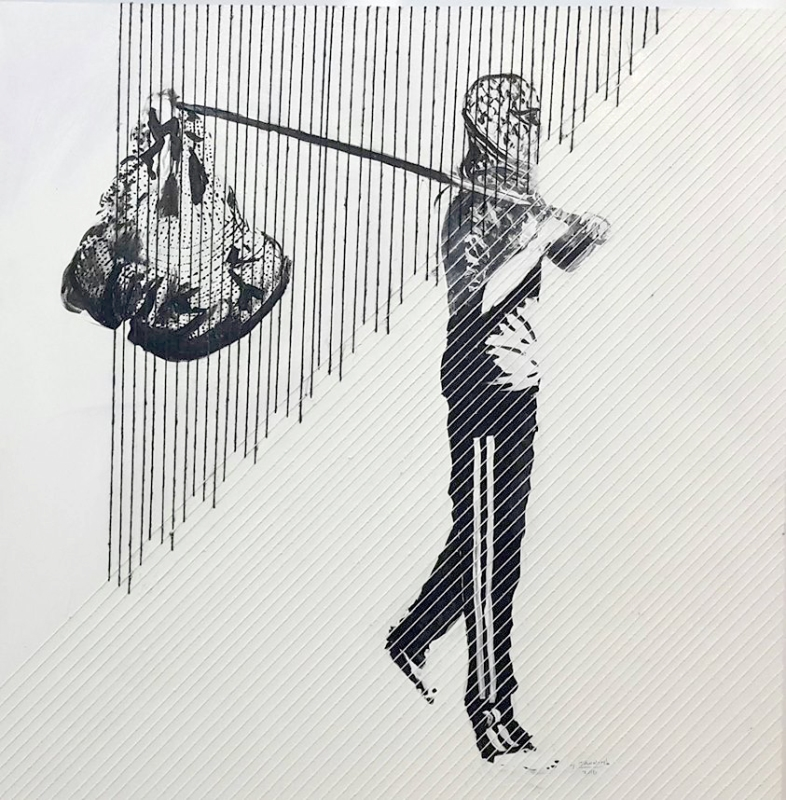 من أعمال الفنان الفلسطيني منذر جوابرة