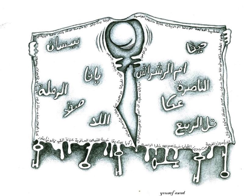 العمل للفنان الفلسطينين محمد عوض