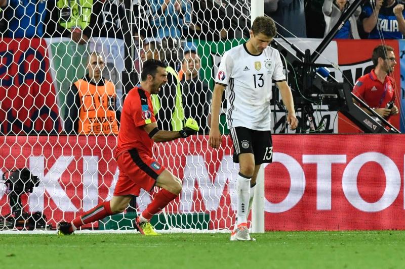 لم يسجل مولر اي هدف واهدر ركلة الترجيح أمام إيطاليا (أ ف ب)